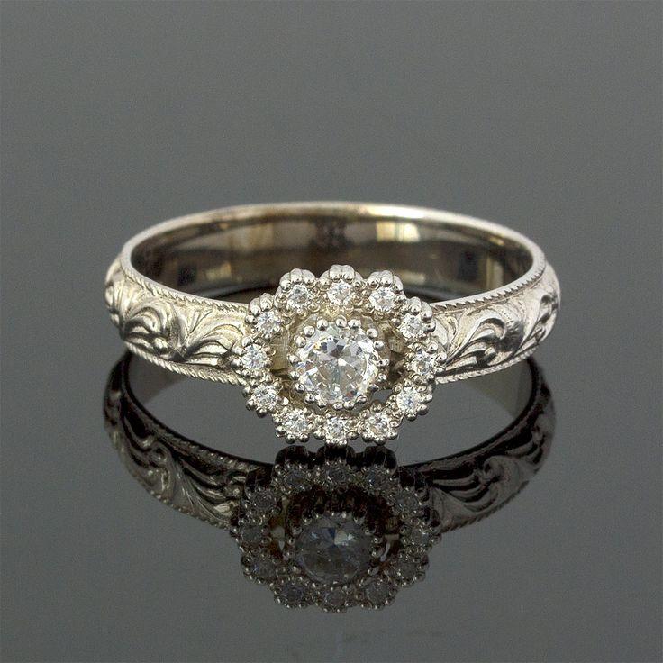 Antique Art Nouveau 0.30 Carat Diamond by JulietAndOliver on Etsy, $2,250.00