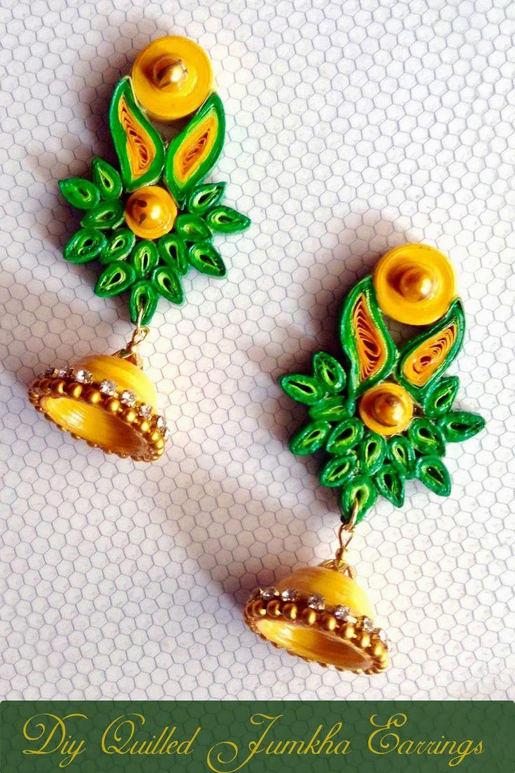 DIY quilled Jumkha earrings - A guest tutorial