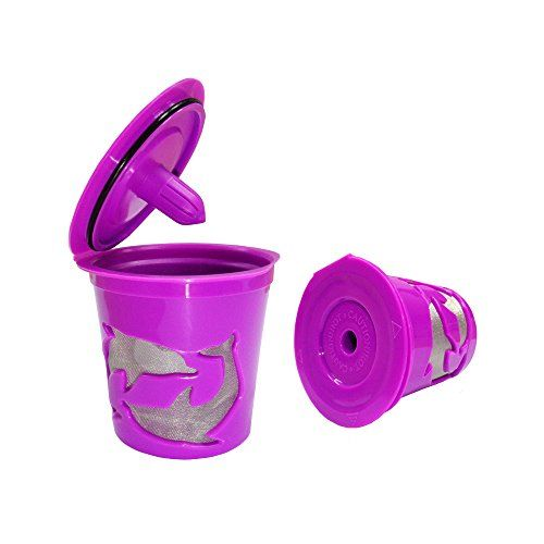 Leocell Refillable &Reusable Coffee Gold Mesh K-Cups Filters for Replacement Keurig 1.0 and 2.0 Brewers1 (purple)