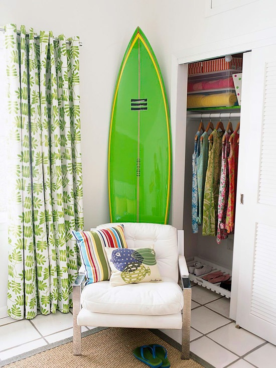 A surf board would look great in C's room.