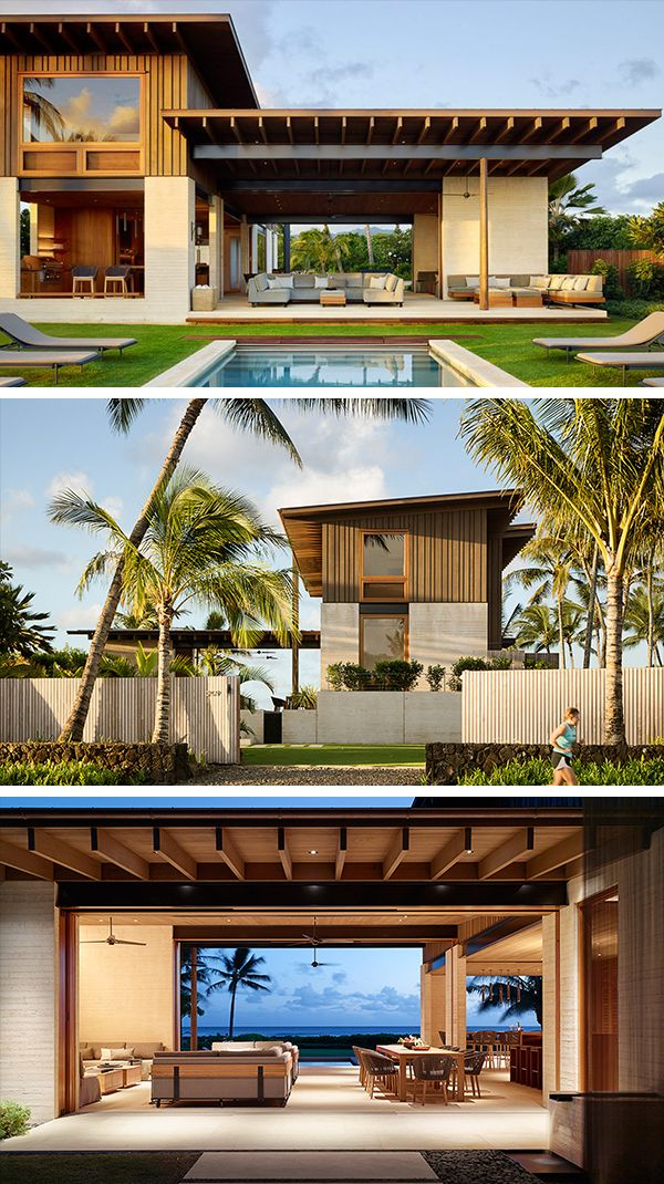 Hale Nukumoi Beach House By Walker Warner Architects In Hawaii Beach House Exterior Beach House Design Modern Beach House