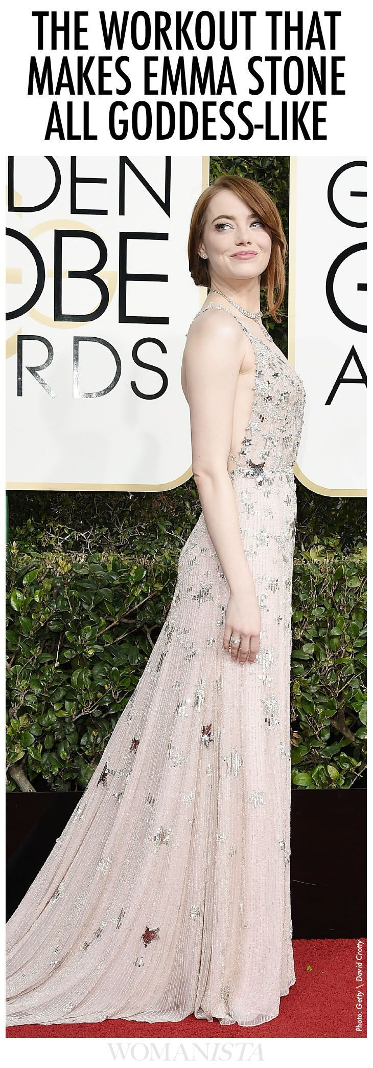 Emma Stone's workout plan to look this good, is one we want to save. Check it out at http://Womanista.com