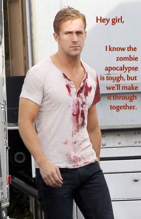 I'll take him, Jensen Ackles, and they guy from Shawn of the Dead and we'd make it through the Zombies no problem.