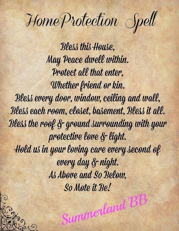 Home protection spell