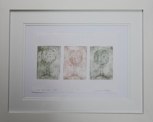 Trees  Drypoint Etching