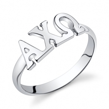 Sterling Silver ALPHA CHI OMEGA Ring $28.00 #alphachiomega #AChiO #sorority