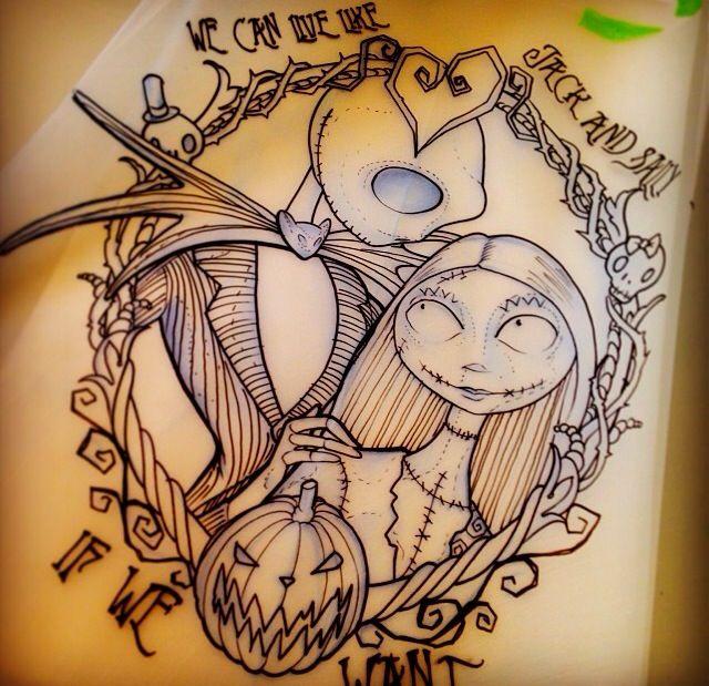 Jack and sally tattoo! Beautiful