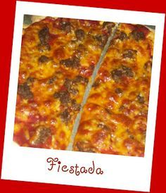 Fiestada school lunch pizza.  Talk about a memory from days past. If you went to school in the Bay Area CA in the 80's - 90's, then you have had this for lunch before.