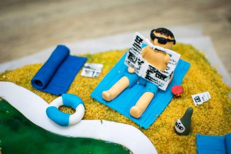 """Cake """"Swimming pool - man"""""""