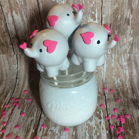 12 Baby Elephant Cake Pops Baby Shower Zoo by SparklingSweetsShop