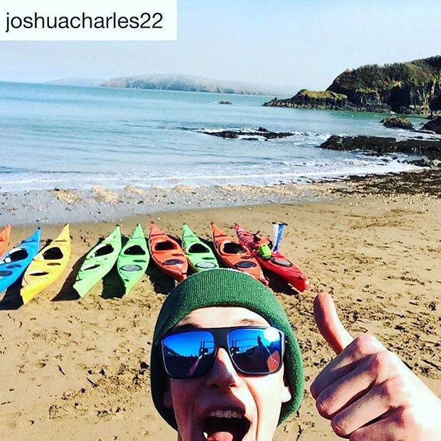 Have a blast @joshuacharles22 !! So glad you packed your #tamakwatoque! This first year tripper is already feeling the #tamakwaspirit !!!! #tamakwatravels  welcome to the family Josh! #Repost @joshuacharles22 with @repostapp  ・・・  Great weather for a paddle along the west coast #tamakwatoque #seakayakcymru