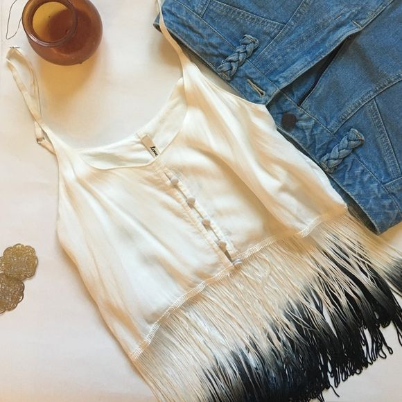 Urban Outfitters Fringe Top Host Pick! Perfect for festivals! NWOT, never worn. By Lovemarks for Urban Outfitters. Boho fringe detail✌️ Urban Outfitters Tops