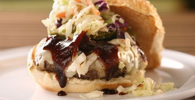 BBP's Dallas Burger with Coleslaw and BBQ Sauce!! Nothing better than a sorta fancy burger :) Will add bacon!