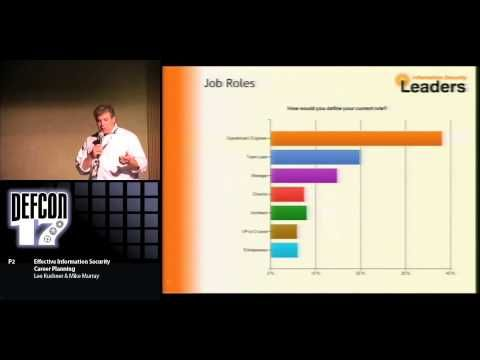 DEF CON 17 - Lee Kushner and Mike Murray - Effective Information Security Career Planning - http://LIFEWAYSVILLAGE.COM/career-planning/def-con-17-lee-kushner-and-mike-murray-effective-information-security-career-planning/