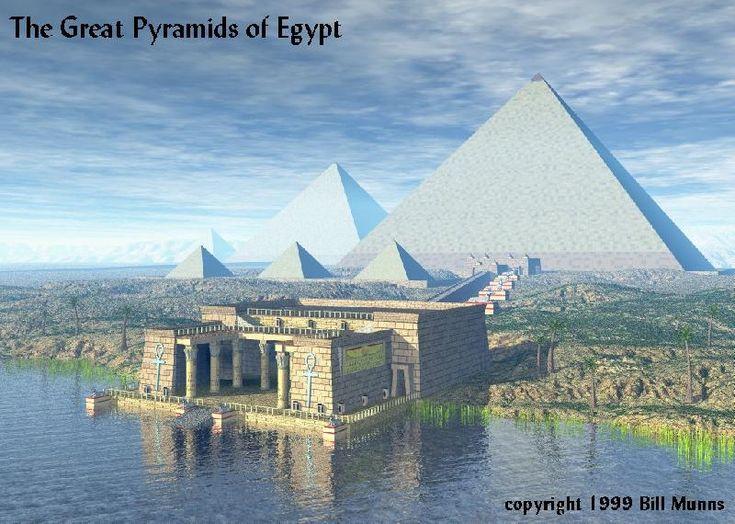 Pyramids - then look: Originally Bright, Casing Stones, Outer Stones, Ancient Egypt, Original Casing, Originally Finished, Sun Rays, The Originals