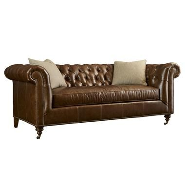 Recliner Sofa Shop for Highland House Leather Sofa and other Living Room Sofas at Hickory Furniture Mart in Hickory NC Available with Antique Brass or Brushed Nickel