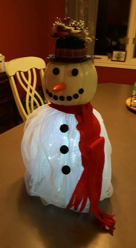 Table top Snowman with batterie lights.