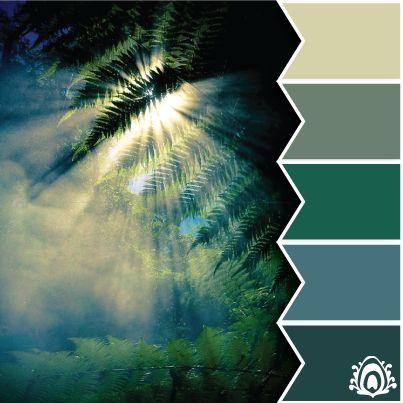 SUNNY FOREST - color palette  Pastel Feather Studio