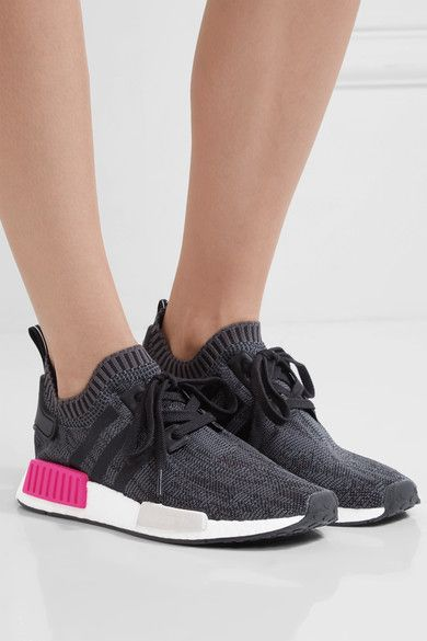 adidas Originals - Nmd_r1 Rubber-paneled Primeknit Sneakers - Black - US