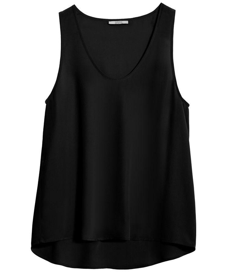 Silk Tank - Chinese Silk - Collection - WOMEN - GRANA: Wardrobe essentials made from the world's best fabrics