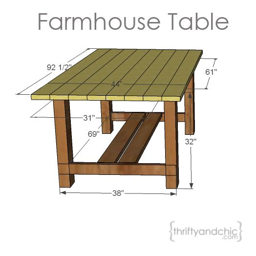DIY Outdoor Farmhouse Table – Patio Furniture Plans Free