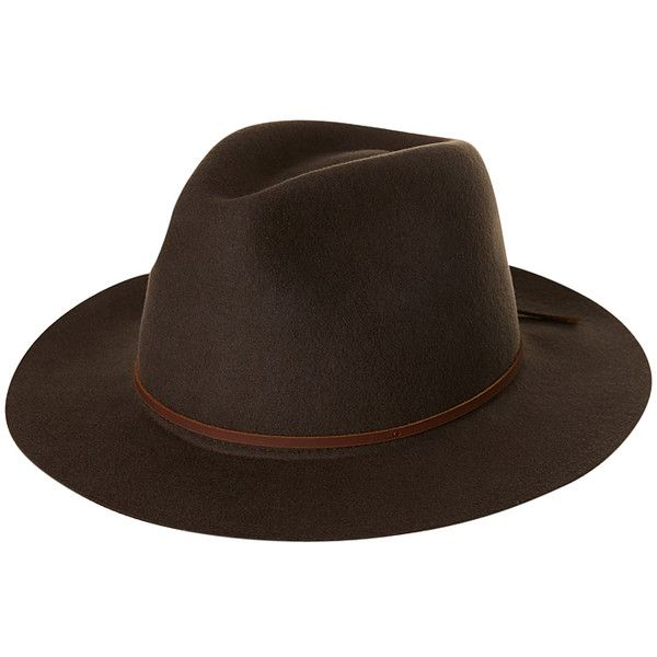Brixton Wesley Fedora Brown ($61) ❤ liked on Polyvore featuring men's fashion, men's accessories, men's hats, accessories, brown, fedora hats, mens hats, mens hats fedora, mens fedora hats and mens fedora