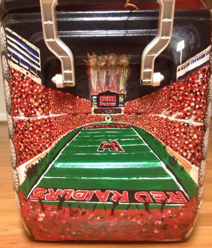 Cooler Stadium Football Tailgate Red Raiders