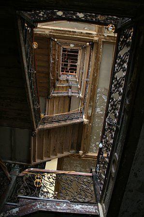 HOTEL STERLING STAIRWAY    sterling hotel, wilkes-barre pa.