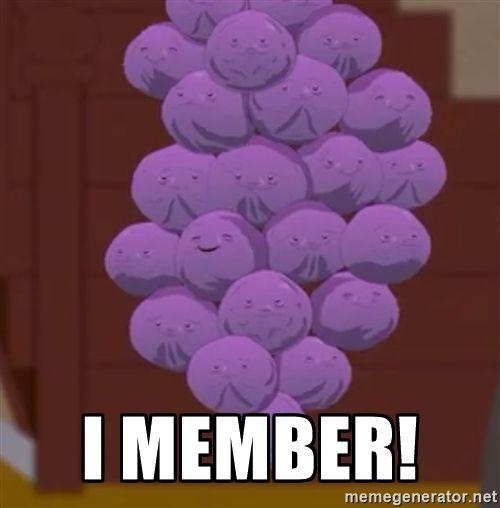 Member Berries South Park - I member!