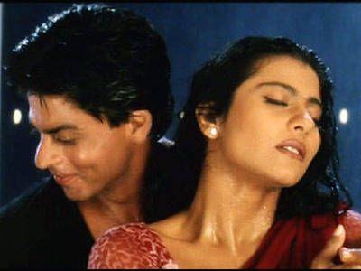 SRK and Kajol in the gazebo on a rainy night - Kuch Kuch Hota Hai (1998)