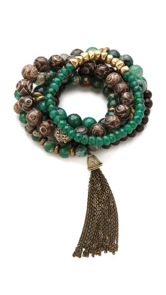 Tassel Trend: Lacey Ryan Bracelet Set via @Shopbop