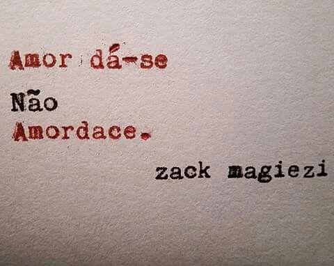 Amor dá-se - Zack Magiezi