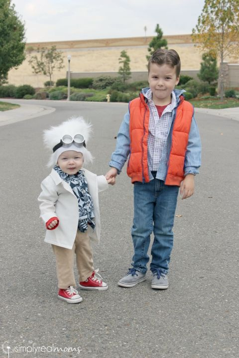 Toddler Brothers Back to the Future Costumes