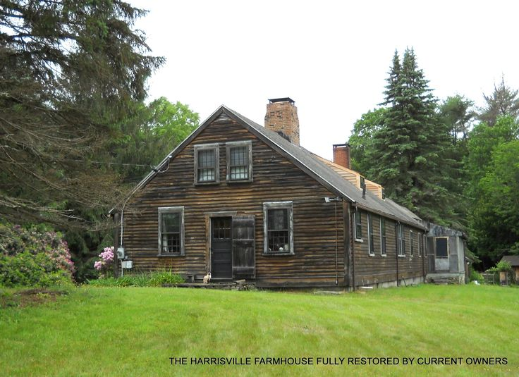 The Harrisville Farmhouse today, fully restored. The current owner continues to experience phenomena.