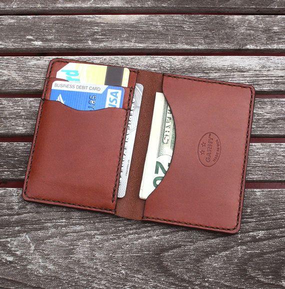GARNY No.5 Leather Card Case Chestnut Brown por garnydesigns