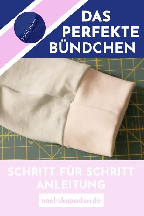 Step by step instructions on how to sew a cuff as a hem …   – Nähen