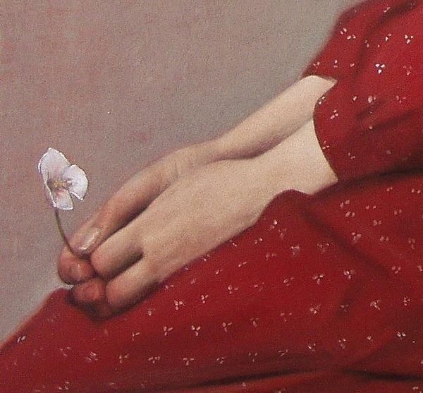"""Scott E. Bartner """"Portrait of Lindsay"""" 2005 (Ausschnitt) von Plum leaves, via Flickr"""