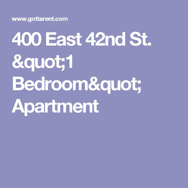 "400 East 42nd St.  ""1 Bedroom"" Apartment"