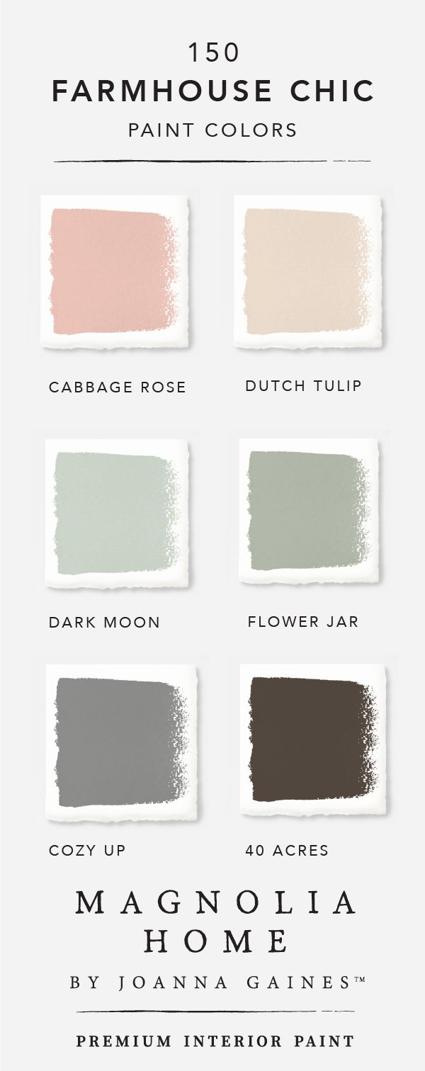 Subtle pink hues like Cabbage Rose and Dutch Tulip are transformed when paired with the light blue green of Dark Moon and Flower Jar. Explore the rest of the Magnolia Home by Joanna GainesTM paint collection to find limitless color palettes that are filled with DIY design inspiration.