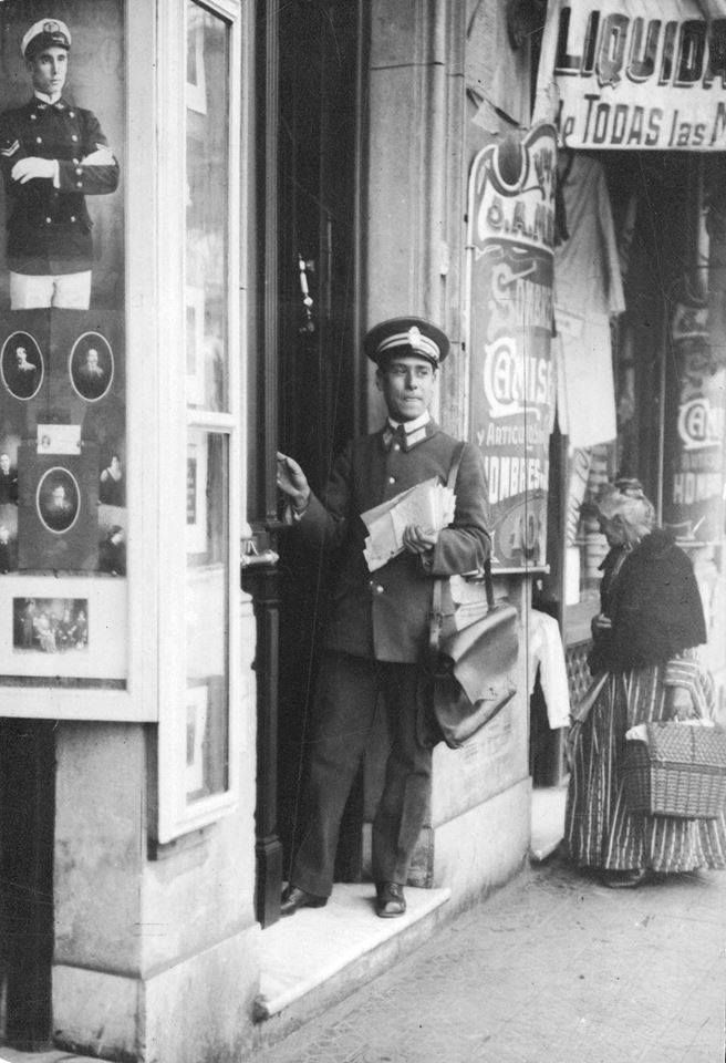 Very Vintage: Buenos Aires Argentina, postman. Base on the fashion, this looks to be late 1800's maybe the beginning of the 1900's.