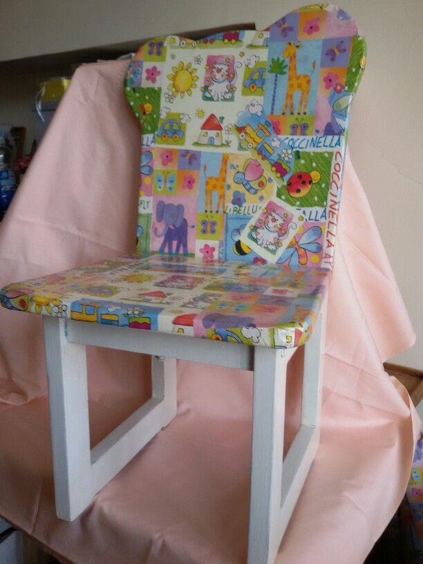 Oltre 25 fantastiche idee su decoupage sedia su pinterest - Decoupage mobili legno ...
