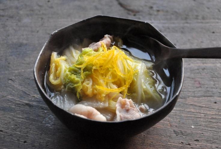 白菜と豚バラの煮物/スープ仕立ての写真