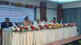 Shri Bandaru Dattatreya ji, Minister of State for Labour & Employment along with Smt. M. Sathiyavathy, Secretary and other officials from Ministry of Labour & Employment participating in the Technical Discussions with states in the Regional Conference of North and Central States in Bhopal. Press Information Bureau - PIB, Government of India All India Radio News All India Radio - Akashvani