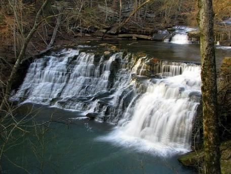 Rutledge Falls, near Tullahoma, is located in a privately-owned natural area that offers hiking, picnicking, and swimming in ice-cold water. Free public access dawn to dusk, year round.