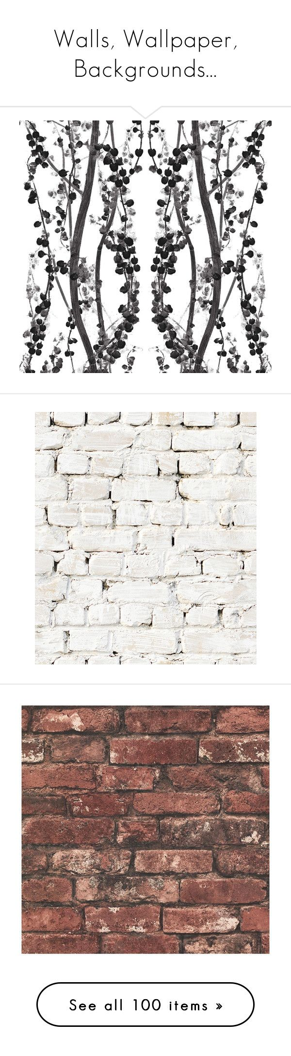 """""""Walls, Wallpaper, Backgrounds..."""" by caymansunshine ❤ liked on Polyvore featuring home, home decor, wallpaper, wallpaper samples, black white home decor, peelable wallpaper, branches home decor, painted wallpaper, removable wallpaper and backgrounds"""