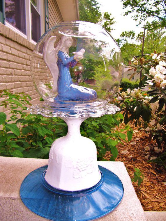 Garden totem yard art outdoor decor garden ornament for Upcycled yard decor