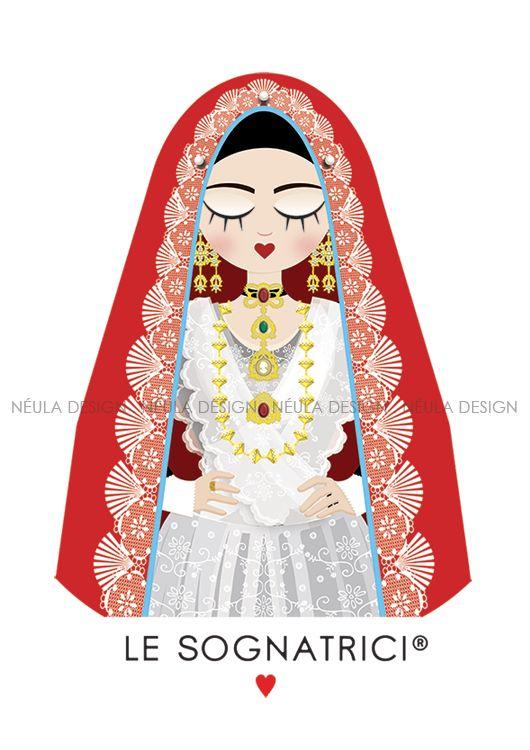Le Sognatrici - Sognatrice di Cagliari - Abito Tradizionale Sardo - Traditional dress Sardinia