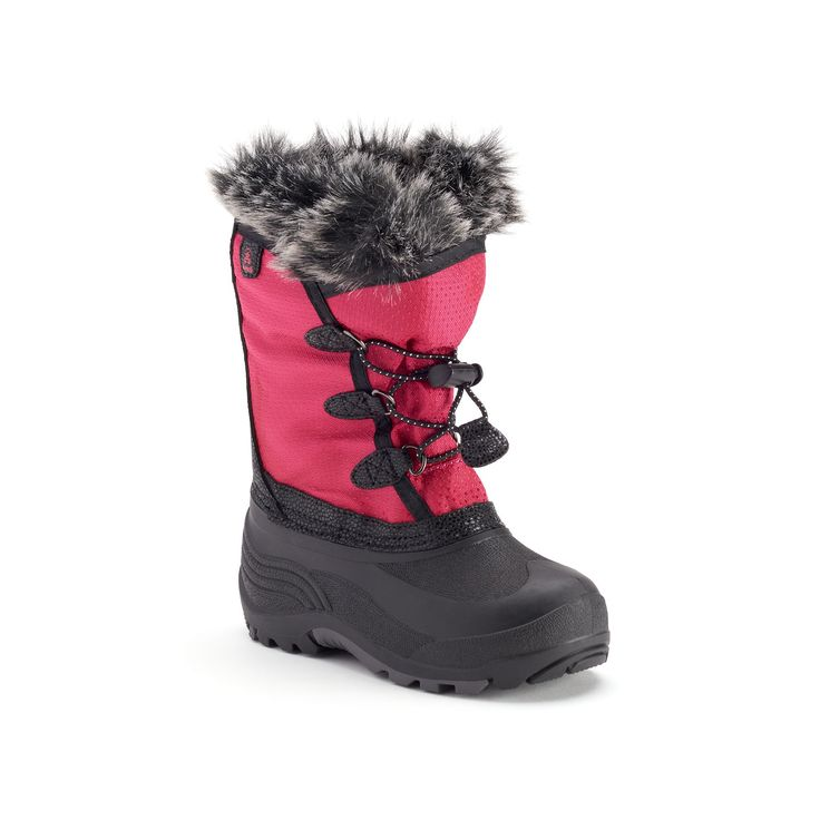 Kamik Powdery Girls' Waterproof Winter Boots, Size: 10 T, Red