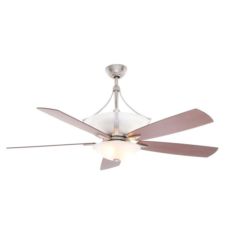 Hampton Bay Brookedale II 60 in. Brushed Nickel Ceiling Fan-AL101-BN - The Home Depot