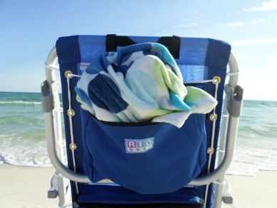 I love the extra large pouch on this Rio Beach Chair.  Big enough to stuff a towel in it.